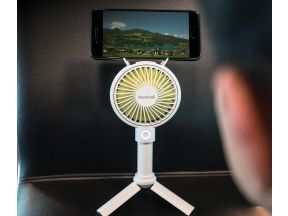 Travelmall  - Foldable Handheld Fan with Integrated Stand (1 pc)
