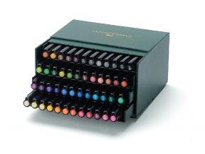Faber Castell Pitt Artist Pen Brush India Ink Pen, Studio Box of 48 (1 box)