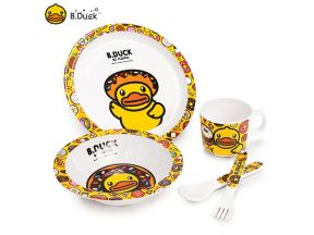 B.Duck Kids Tableware Set (Donut) (1 set)