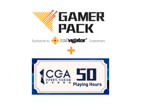 "24 months of Gamer Pack Service  + 50 Playing Hours at the CGA eSports Stadium ""eSports Arena"" (Available to designated NETVIGATOR broadband service plan customers)"