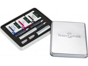 Faber Castell Grip Fountain Pen Calligraphy Set Silver (1.1/ 1.4/ 1.8) (1 set)