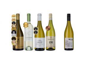 4-bottle Awarded European Classic Whites Plus 1 FREE Riesling White (1 set)