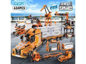 Cada City Port Truck Engineering Car 10 IN 1 Building Blocks (634 pcs) (1 set)
