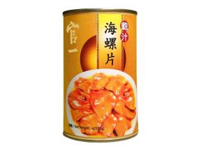 Guan Yi Topshell Slices in Abalone Sauce (425g) (1 can)