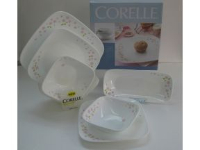 Corelle Square Round Set (Sakura) (6 pcs) (Gift : Chopsticks Set 2 pairs)