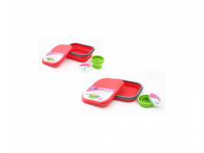 HKTDC Design Gallery Lexngo large silicone collapsible lunch combo (Red/Green/Blue) (1pc)