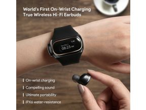 USA Myaipower On-Wrist Charging True Wireless Hi-Fi Earbuds (Black) (1 pc)