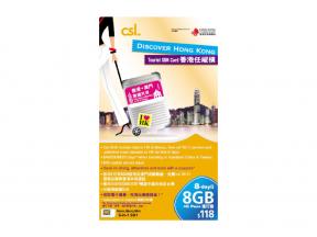 csl. Discover Hong Kong Tourist SIM Card 8-Day Pass (1 pc)