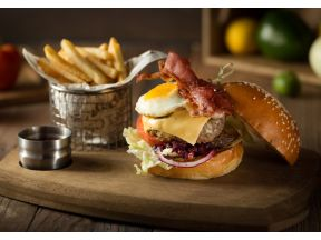 The Chop House - Aussie Burger with a Draught Beer or Non-alcoholic Moo Juice (1 set)
