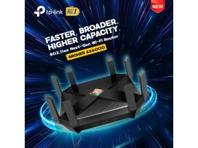 TP-Link Archer AX6000 802.11ax Wi-Fi 6 2.5G Router (1 pc)