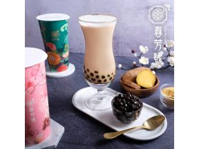 Chun Fun How - Sweet Potato Milk Tea with Bubbles (1 cup)
