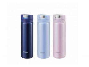 TIGER - Ultra-light Flip-cap Stainless Steel Thermal Bottle (1 pc)