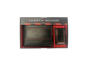 Tommy Hilfiger Global Passcase Gent Leather Wallet with Money Clip Gift Set (1 pc)