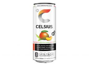 CELSIUS® Fitness Drink Peach Mango Green Tea Flavored 330ml (1 case includes 24 pcs)