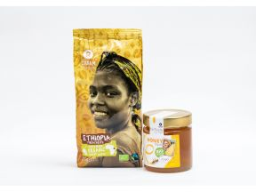Oxfam Organic Ground Coffee (1 pack) & Oxfam Liquid Organic Honey (1 bottle)