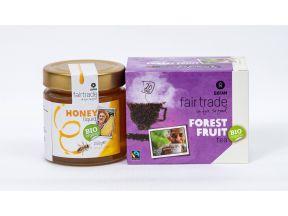Oxfam Liquid Organic Honey (1 bottle) & Oxfam Organic Forest Fruit Flavour Tea (1 box)