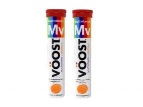 Voost Effervescent Tablet MultiVitamin+Minerals Orange Flavour 20s tablets (Dual pack)