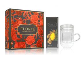 FLORTÉ Dahlia Gift Set - 1 Tea & 1 Tea Mug (1 box)