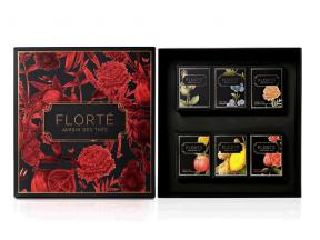 FLORTÉ Dahlia Gift Set with 6 discovery teas (1 Box)