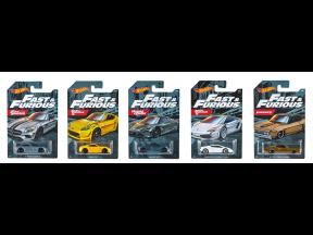 Hot Wheels Themed Automotive Diecast Car Set (Fast & Furious) (1 set 5 pcs)