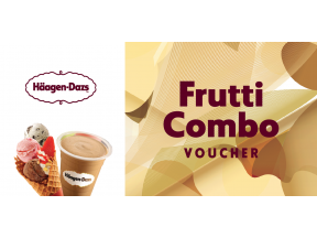 Häagen-Dazs™ Frutti Combo (one Milkshake and one Triple Frutti) Gift Voucher (1 pc) (Take Away Only)