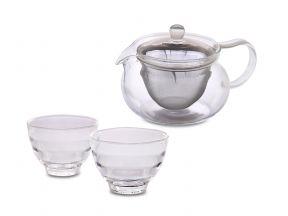 HARIO 450ml Chacha Tea Pot with Cups (GJHA-CHJMNHU218) (1 set)