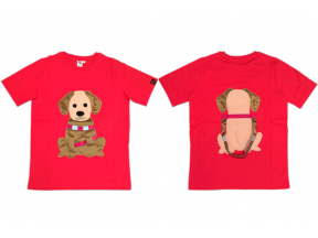 Hong Kong Guide Dogs Association - Hand Made Guide Dog Image Red Tee Shirt (1pc)