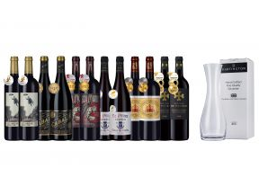 12-bottle Gold French Reds plus a FREE Decanter (1 set)