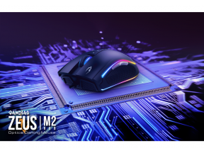 GAMDIAS Zeus M2 RGB Optical Gaming Mouse with Mouse Pad (1 set)