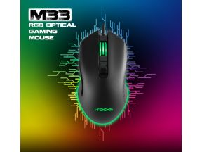 i-Rocks M33 RGB Gaming Optical Mouse (1 pc)