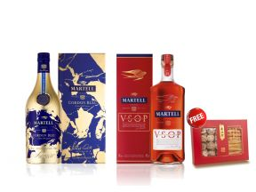 Martell Cordon Bleu Limited Edition + Martell V.S.O.P Aged in Red Barrels (1 set) FREE Nam Pei Hong Dried Seafood Giftbox (1 box)