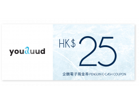 $25 youduud - Penguin E-cash coupon (1 pc)