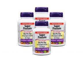 Webber Naturals Super Prostate Extra Strength (60 Softgels) (4 Bottles)