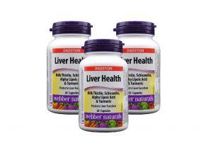 Webber Naturals Liver Health (65 Capsules) (3 Bottles)