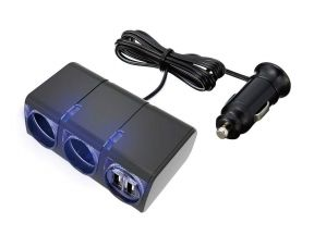 Japanese SEIKO EM-152 Charger (2x 12V/24V Socket + 2x USB With Wire Cable) (1pc)