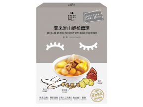 CheckCheckCin Soup Pack- Corn and Chinese Yam Soup with Blaze Mushroom 350g (1 pc)
