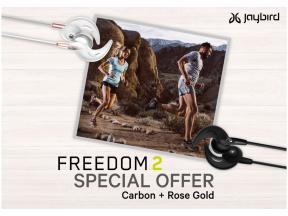 Jaybird Freedom 2 Wireless Headphones Twin Package (Free Belkin Armband) (1 Set)