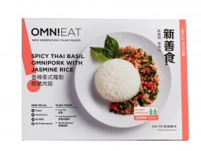 Spicy Thai Basil OmniPork with Jasmine Rice (Vegan) (1 pack)