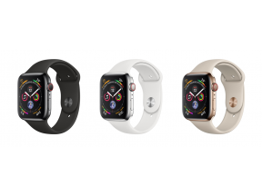 Apple Watch Series 4 (GPS+Cellular) 44mm Stainless Steel Case with Sport Band (1 pc)