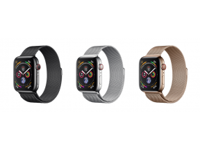 Apple Watch Series 4 (GPS+Cellular) 44mm Stainless Steel Case with Milanese Loop (1 pc)