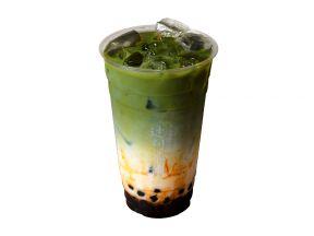 TSUJIRI – Black Sugar Matcha Latte with Tapioca (Cold drink) (1 cup)