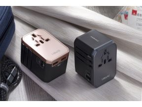 MOMAX 1-World AC Travel Adapter (Type-C PD + 3 USB-A) (1 pc)