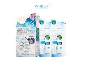 WHITE-T 8-Day Teeth Total Whitening & Regenerating Scheme + Whitening Treatment Toothpaste x 2pcs (1 set)