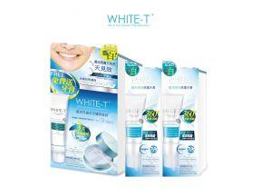 WHITE-T Teeth Whitening & Polishing Kit + Whitening Treatment Toothpaste x 2pcs (1 set)
