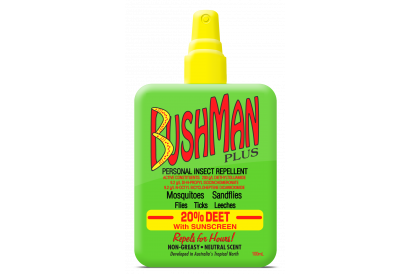 Bushman Plus 20% Deet Insect Repellent Pump Spray with Suncreen (100 ml) (1 pc)
