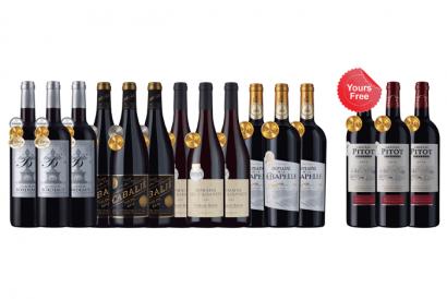 Laithwaites Direct Wines - 12-bottle Gold French Reds plus 3 FREE bottles