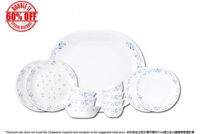 [11.11] Corelle 12pcs Dinnerware Set (Privincial blue) (1set)