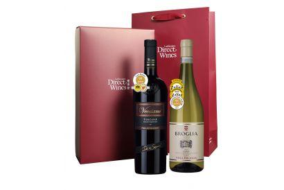 2-bottle High-point Champion Italian Red & White + Gift Box (1 set)