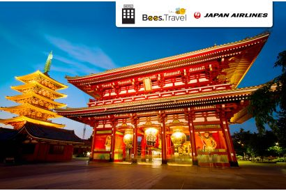 3 Days 2 Nights Tokyo Package  (Japan Airlines) (1 person, minimum 2 persons travel together) (with Free Roaming Data Pass*)