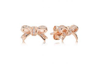 Pandora Bow PANDORA Rose stud earrings with cubic zirconia (1pair)